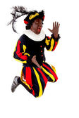 Excited jumping black Pete — Stock Photo