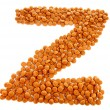 Ginger nuts, pepernoten, in the shape of letter Z - Stock Photo