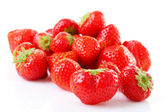 Couple of fresh strawberries in closeup — Стоковое фото