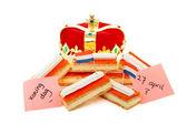 Dulce típico holandés tompoes con corona — Foto de Stock