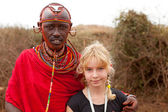 AFRICA, KENYA, MASAI MARA - JULY 2: Male tribal member wearing t — Stock Photo