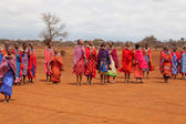 AFRICA, KENYA, MASAI MARA - JULY 2: Masai females dancing tradit — Stock Photo