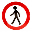 Stock Photo: No walking sign