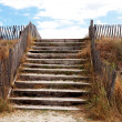 Stock Photo: Beach access over protective dunes