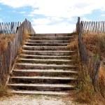 Beach access over protective dunes — Stock Photo