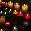 Candels in church — Stock Photo
