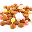 Typical dutch sweets: pepernoten (ginger nuts) — Stock Photo