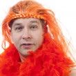 Dutch orange soccer supporter — Stock Photo #34739443