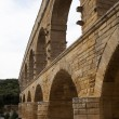 Closeup view of Roman built Pont du Gard aqueduct, Vers-Pont-du- — Stock Photo
