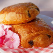 Stock Photo: Typical French chocolate rolls