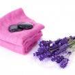 Spa accessories and lavender — Stock Photo