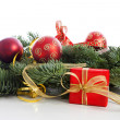 Christmas decoration on pine tree — Stock Photo #37044229