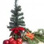 Christmas decoration on pine tree — Stock Photo #37044281
