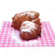Two Dutch donut also known as oliebol, traditional New Year's ev — Stock Photo #37044495