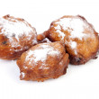 Three Dutch donut also known as oliebollen, traditional New Year — Stock Photo #37044563