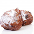 Two Dutch donut also known as oliebol, traditional New Year's ev — Stock Photo #37044601