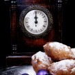 Dutch donut also known as oliebollen, traditional New Year's eve — Stock Photo