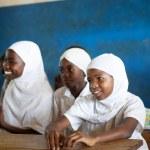 KINAZINI, KENYA - JULY-12: unidentified African children showing — Stock Photo #43148757
