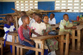 KINAZINI, KENYA - JULY-12: unidentified African children showing — Stock Photo