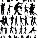 Dance silhouette vector — Stock Vector #13248470