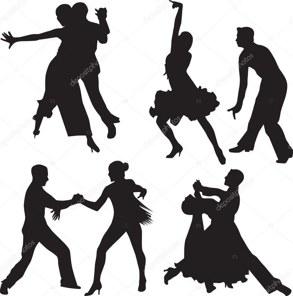 Ballroom Dancing Silhouette Vector Dance silhouette vector
