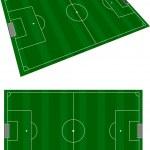Soccer terrain — Stock Vector #21556487
