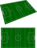Soccer terrain — Stock Vector