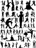 Dance silhouette vector — Stock Vector