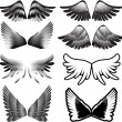 Wings tattoo silhouette vector — Stock Vector #22012619
