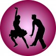 Royalty-Free Stock Vector Image: Dance people silhouette vector