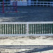 Gate for horses terrain outdoor — Stock Photo