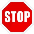 Stop traffic sign — Vettoriali Stock