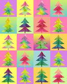 Batik christmas tree color background — Stock Photo