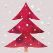 Stock Photo: Batik christmas red tree