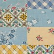 Sky blue quilt background — Stock Photo #21369205