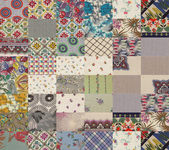 Collection of quilt backgrounds - grey — Stock Photo