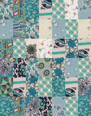Collection of quilt backgrounds - blue — Stock Photo