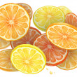 Orange cascade - Stock Photo
