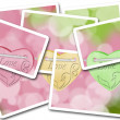 Cards for Valentine day - Stock Photo