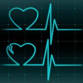 Healthy and a broken hearts — Stock Photo