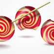 Three funny lollipops — Stock Photo