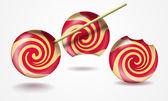 Three funny lollipops — Stock Photo