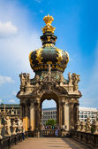 The building of the Dresden gallery in the structure of the Zwinger — Stock Photo