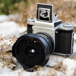 Vintage analogue camera — Stock Photo