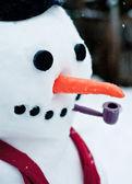 Sněhulák obličej — Stock fotografie