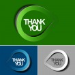Thanks you sticker design — Stock Vector #12104280