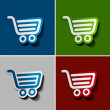 Shopping web icons — Stock Vector