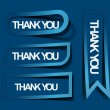 Thanks you sticker design - Stock Vector