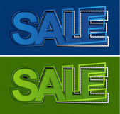 Sale elements design — Stock Vector