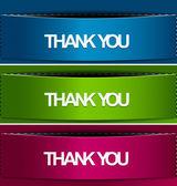 Thanks you sticker design — Stock Vector